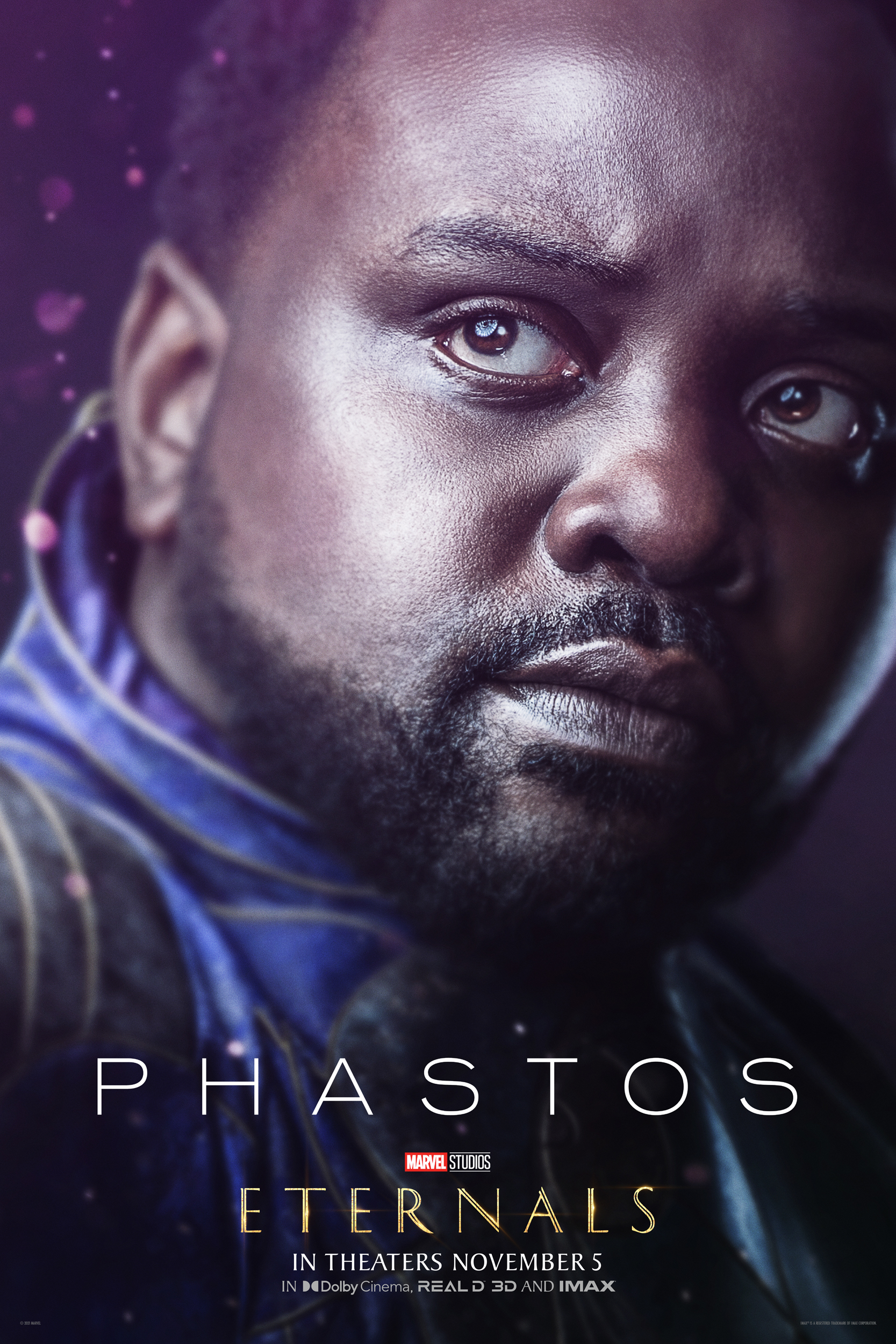Brian Tyree Henry as the intelligent inventor Phastos